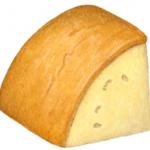 Provolone cheese triangle wedge chunk