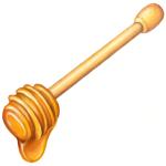 Honey wand with dripping honey