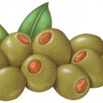 Nine stuffed Manzanillo olives with pimento