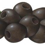 Eight medium pitted black olives