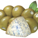 Green Queen olives stuffed with blue cheese