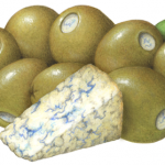 Green Queen olives stuffed with Gorgonzola cheese