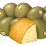 Green Queen olives stuffed with provolone cheese