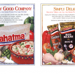 Food illustrations used on advertising for Mahatma and Carolina rice.